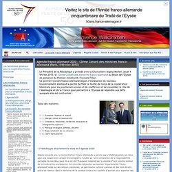 Agenda franco-allemand 2020 - 12ème Conseil des (...)