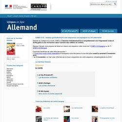 Allemand - Réseau Canopé : enseigner les langues étrangères avec Langues en ligne