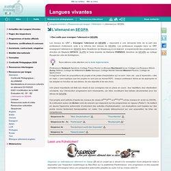 L'allemand en SEGPA - Langues vivantes