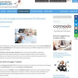Le contenu du CV en allemand (Lebenslauf) - Connexion-Emploi