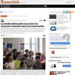 La SACEM allemande veut taxer les chansons chantées dans les maternelles