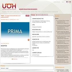 PRIMA - La langue allemande dans la vie professionnelle