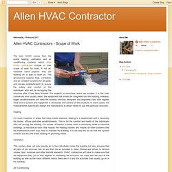 Allen HVAC Contractor: Allen HVAC Contractors - Scope of Work