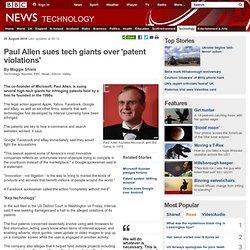 Paul Allen sues tech giants over 'patent violations'