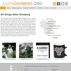 Allen Ginsberg Project - Home
