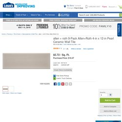 allen + roth 9-Pack Allen+Roth 4-in x 12-in Pearl Ceramic Wall Tile