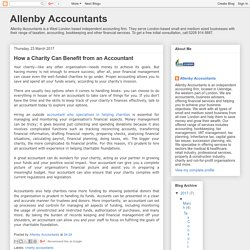Allenby Accountants: How a Charity Can Benefit from an Accountant