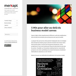 5 Min pour aller au-delà du business model canvas - Merkapt