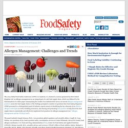 FOOD SAFETY MAGAZINE – DEC 2014 - Allergen Management: Challenges and Trends.