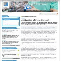 CERIN 02/09/13 Le soja est un allergène émergent.