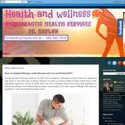 How to Combat Allergies with Chiropractic Care in Pittsford NY?