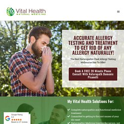 Natural Allergies Treatment Melbourne