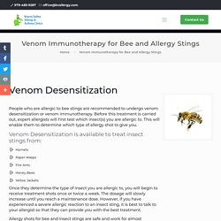 Allergy Shots for Bee and Allergy Stings