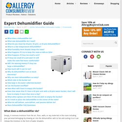 50 Questions Dehumidifiers Answered