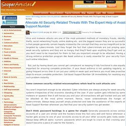 Alleviate All Security Related Threats With The Expert Help of Avast Support Number
