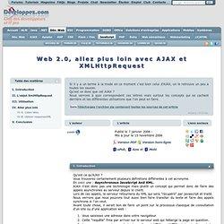 Web 2.0, allez plus loin avec AJAX et XMLHttpRequest