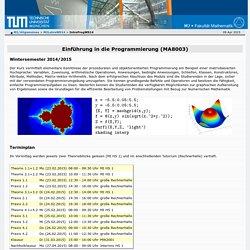Lehrstuhl Numerische Mathematik - M2/Allgemeines - IntroProgWS14