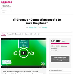 allGreenup - Connecting people to save the planet