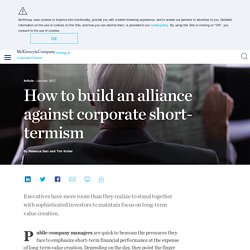 How to build an alliance against corporate short-termism