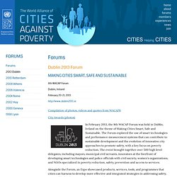 World Alliance of Cities Against Poverty (WACAP)