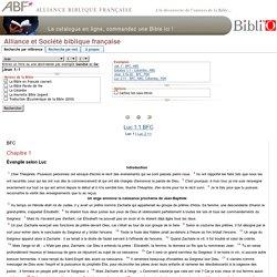 Lire la Bible, Alliance et Société biblique française