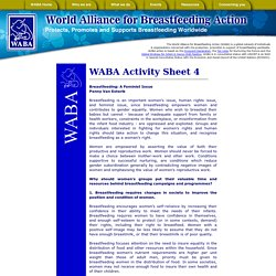 World Alliance for Breastfeeding Action : WABA