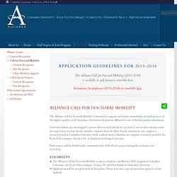 Alliance Call for Doctoral Mobility