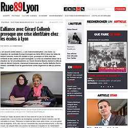 L'alliance avec Gérard Collomb provoque une crise identitaire chez les écolos à Lyon -