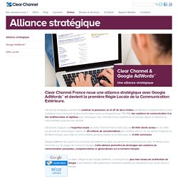 Alliance stratégique - Clear Channel France