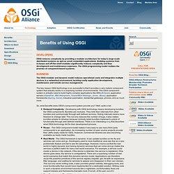 Technology / Benefits of Using OSGi
