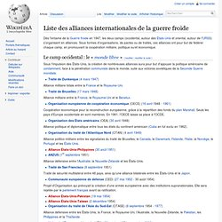 Liste des alliances internationales de la guerre froide