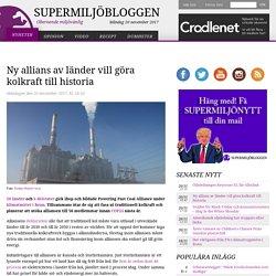 Ny allians av länder vill göra kolkraft till historia