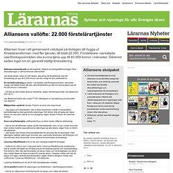 Alliansens vallöfte: 22.000 förstelärartjänster