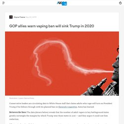 GOP allies circulate data showing vaping ban will sink Trump in 2020 -Axios