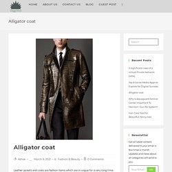 Alligator coat - DiggiWeb