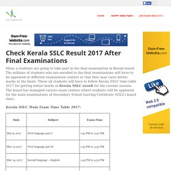 allinone2017 - Check Kerala SSLC Result 2017 After Final Examinations