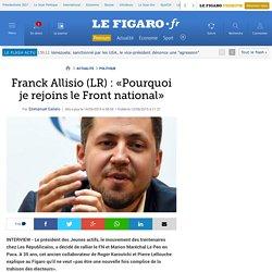 Franck Allisio (LR): «Pourquoi je rejoins le Front national»