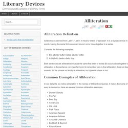 Alliteration - Examples and Definition of Alliteration