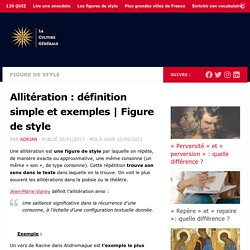 Allitération : définition simple et exemples