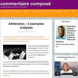 Allitération : 3 exemples analysés