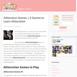 6 Alliteration Games to Learn Alliteration