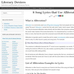 8 Song Lyrics that Use Alliteration - Literary Devices