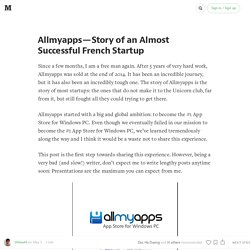 Allmyapps — Story of an Almost Successful French Startup