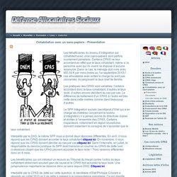 L'aDAS - Association de Défense des Allocataires Sociaux - Cohabitation avec un sans-papiers - Présentation