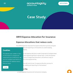 ORYX Expense Allocation For Insurance - Accountagility