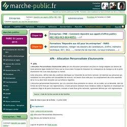 APA Allocation Personnalisée d'Autonomie aide prestation CCAS CIAS definition