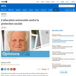 L'allocation universelle contre la protection sociale