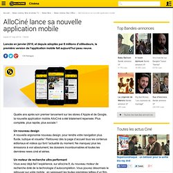 AlloCiné lance sa nouvelle application mobile