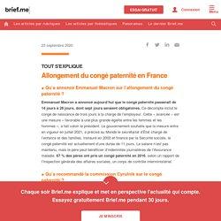 Allongement du congé paternité en France