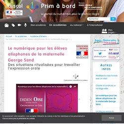 Le numérique pour les élèves allophones de la maternelle George Sand - Prim à bord